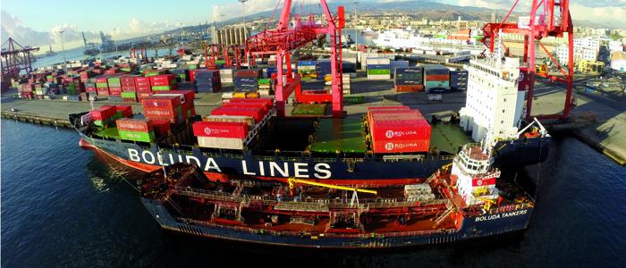 En 2018, los puertos españoles movieron unos 546 millones de toneladas de mercancías